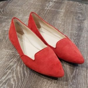 Nine West Shindig suede pointed toe flats size 7.5